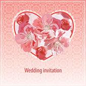 Invitación de boda — Vector de stock