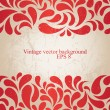 Stock Vector: Red vintage background