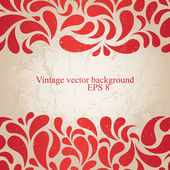 Red vintage background — Stock Vector