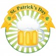 A glass of fine beer for St. Patrick's day — Stock Vector