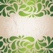 Stock Vector: Green vintage wallpaper