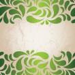 Green vintage wallpaper — Stock Vector