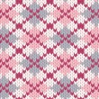 Knitted pattern with rhombus — Vettoriali Stock