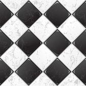 Black And White tile — Stock Vector