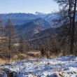 Foto Stock: First snow in Altai mountains