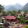 A typical village in Laos — Stock Photo