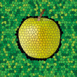 Apple from mosaic — Stockvector #10310136