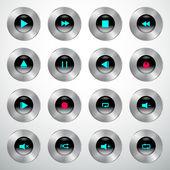 Player button — Stock Vector