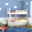 Blue children´s room with toys — 图库照片
