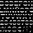 3d shiny metal alphabet isolated — Stock Photo #8197575