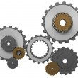 Frontal view of gears composition — Stock Photo