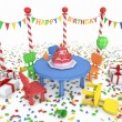 Cartton like birthday party — Stock Photo