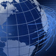 Global telecommunications background design - Stock Photo