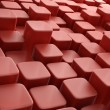 3D blocks abstrct background red - Stock Photo