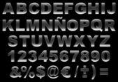 3d szczotkowanej stali alfabet na białym tle — Zdjęcie stockowe
