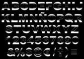 3d shiny metal alphabet isolated — Stock Photo