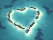 Heart shaped island — Stock Photo