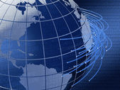 Global telecommunications background design — Stock Photo