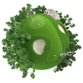 Miniature golf planet — Stock Photo