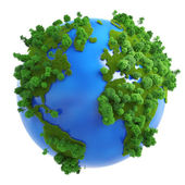 Isolated green planet concept — Stock Photo