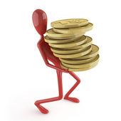 Dummy carrying coins — Stock Photo
