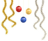 Isolated christmas ornaments — Stock Photo