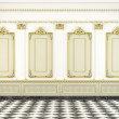 Classic wall background with golden molding — Stock Photo #8205121