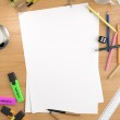 Copy space on white sheet — Stock Photo #8205218