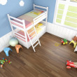 Royalty-Free Stock Photo: Childrens bedroom seen from above