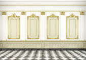 Classic wall background with golden molding — Stock Photo