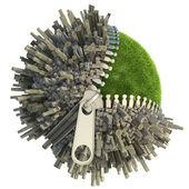 Koncepcja zmian środowiska — Zdjęcie stockowe