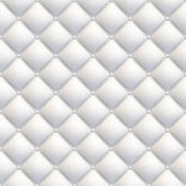 White leather upholstery seamless diagonal — Stock Photo