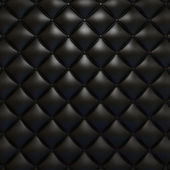 Black leather upholstery texture — Stock Photo