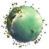 Paradise island globe — Stock Photo
