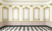 Classic style room with golden details — Stock Photo