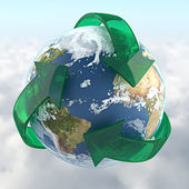 Recycled planet — Stock Photo