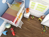 Children's room top view — Stock Photo