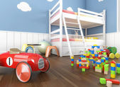Close up toys in children´s room — Stock Photo