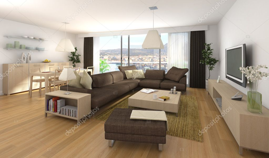 Moderne interieur van appartement stockfoto arquiplay77 8208173 - Interieur appartement moderne ...