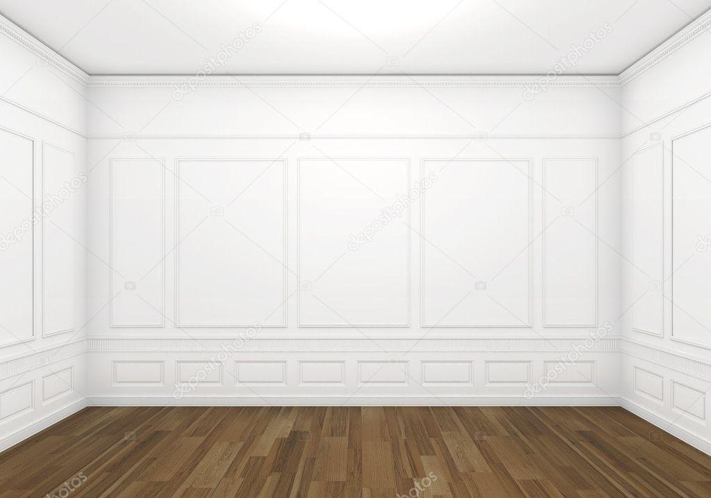 Witte lege klassieke kamer stockfoto arquiplay77 8208665 - Witte muur kamer ...