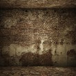 Stock Photo: Grungy interior brick room
