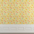 Royalty-Free Stock Photo: Flowery wallpaper wall