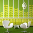 Retro interior design green — Stock Photo