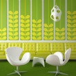 Retro interior design green - Stock Photo