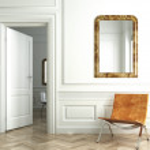 Classic white interior whit mirrors — Stock Photo