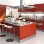 Red kitchen — Stock Photo