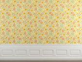 Květované tapety zeď — Stock fotografie