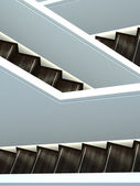 Abstract interior shot of stairs crossing — Stock Photo