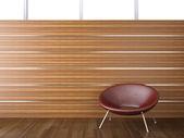 Design de interiores de madeira da parede — Fotografia Stock