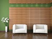 Interior design of modern waiting room — Stock Photo